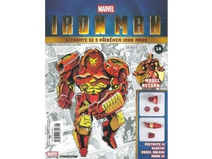 Figurka - stavebnice: IRON MAN #019 (časopis s přílohou)
