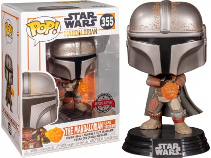 Figurka POP: Star Wars The Mandalorian - The Mandalorian Flame Throwing (special edition) (bazar)