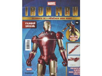 Figurka - stavebnice: IRON MAN #040 (časopis s přílohou)
