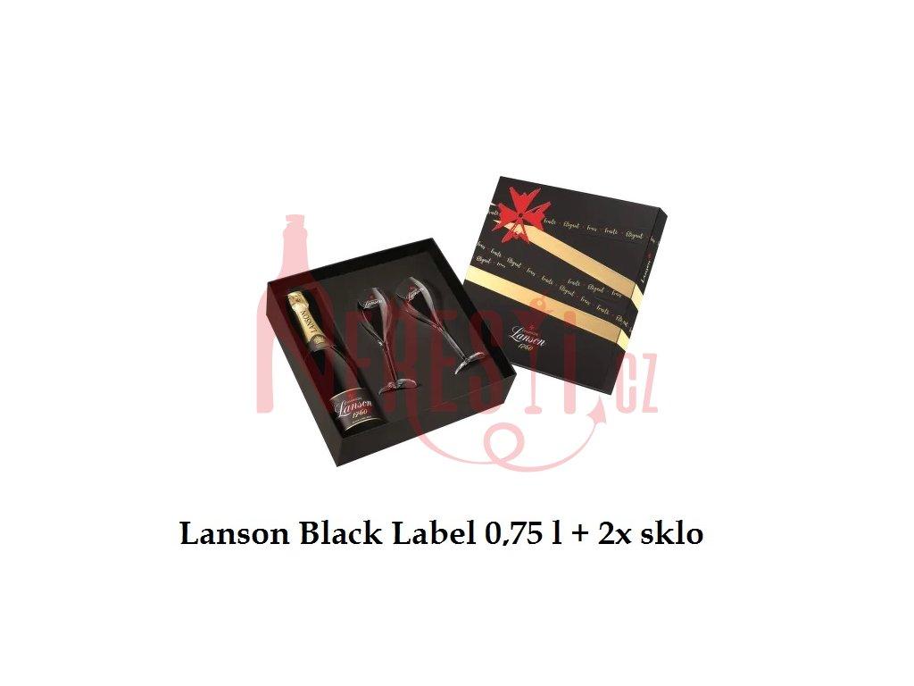 Lanson black label+sklo