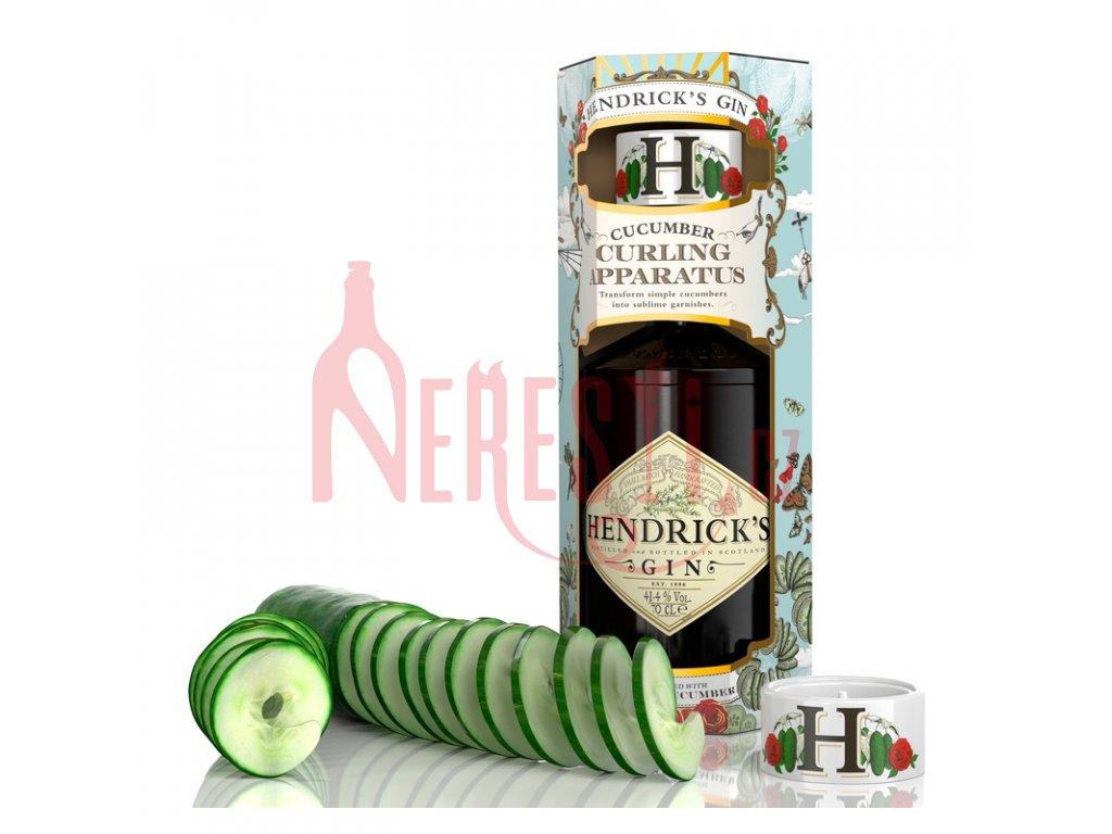 hendrick s gin 0 7l 41 4 neobycejne darkove baleni se spiralovym aparatem na okurku