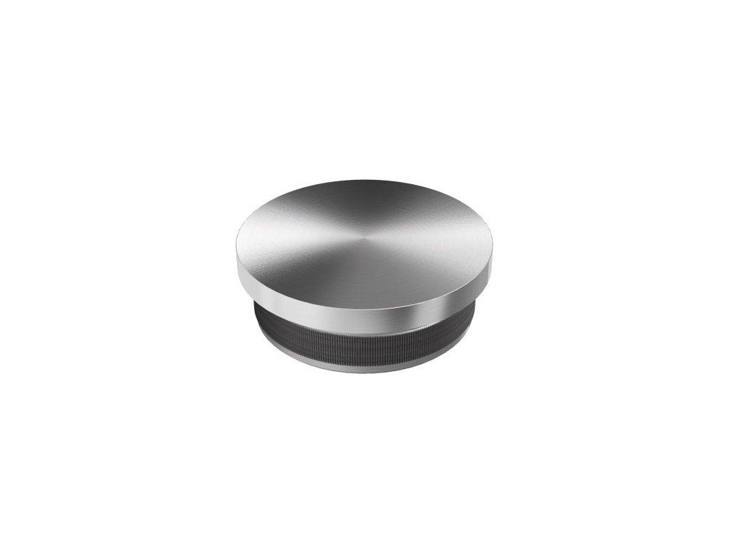 Plochá záslepka pro trubku Ø42,4 x 2,0 mm, nízký čep, broušená