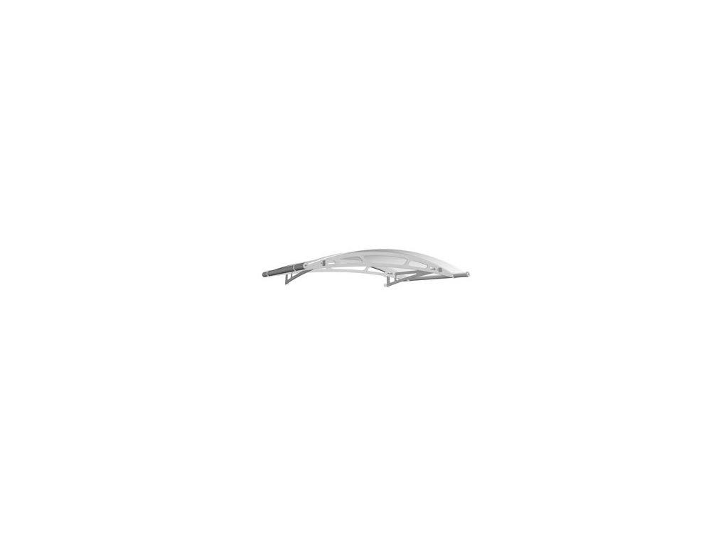 Stříška z matného bílého akrylového skla 2480 x 910, AISI 304