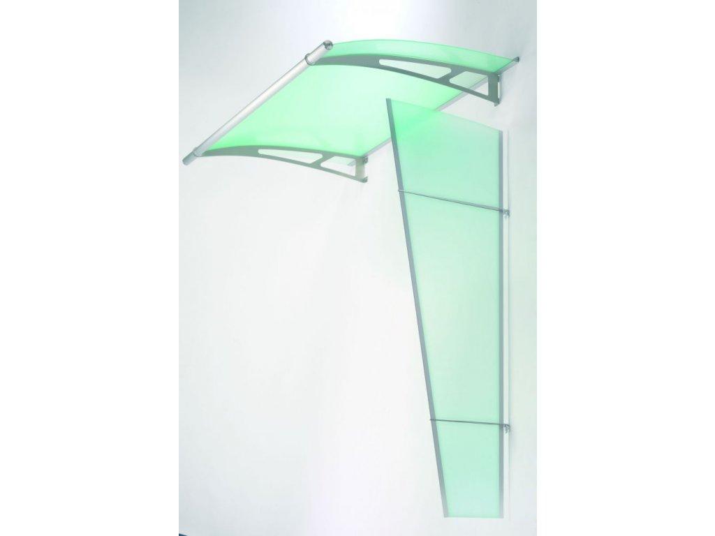 Boční stěna Lightline XL z matného zeleného akrylového skla