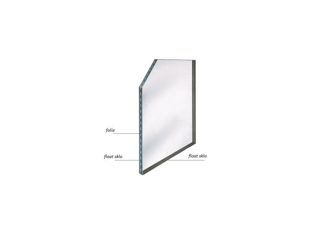 Sklo lepené (čiré) - průměr 16,76 mm