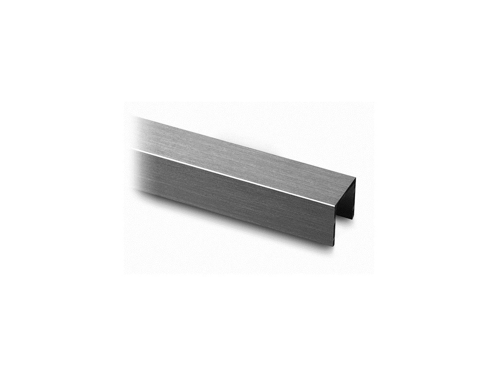 Nerezové madlo L26xH27mm pro samonosné zábradlí, L:2500mm