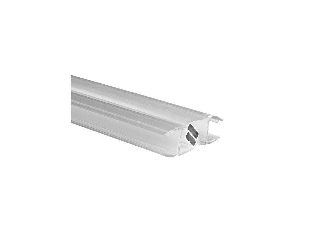 Těsnící lišta magnetická 180.stup PVC, T10/L 2200