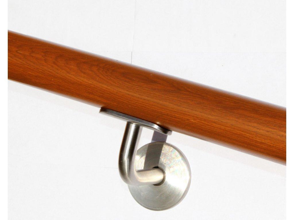 Drevěné madlo na zeď DUB (Ø42mm), odstín: 3028 teak