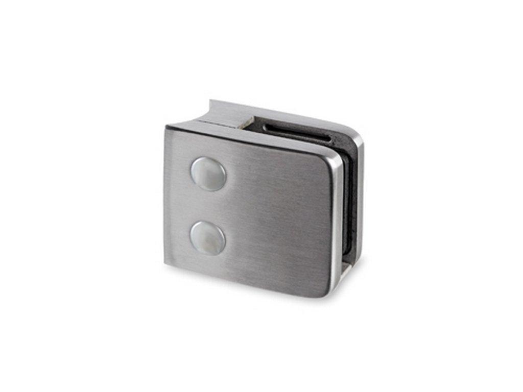 Nerezový držák skla 55 x 55 mm, pro sloupek Ø 48.3mm