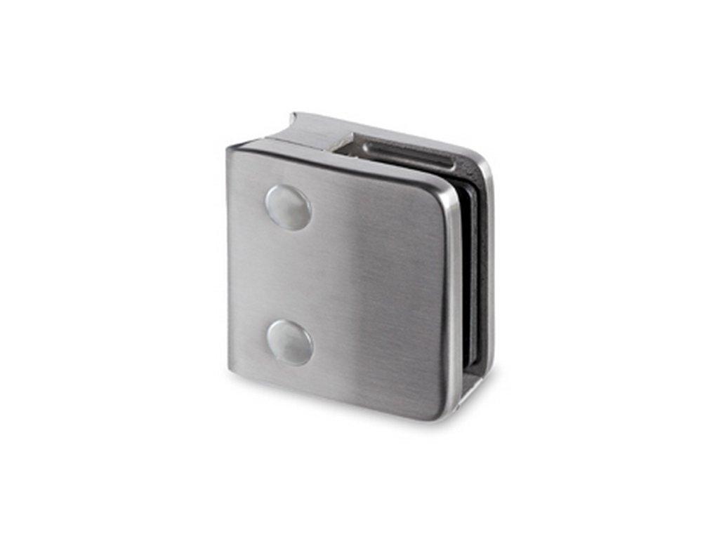 Nerezový držák skla 70 x 55 mm, pro sloupek pr. 48.3mm