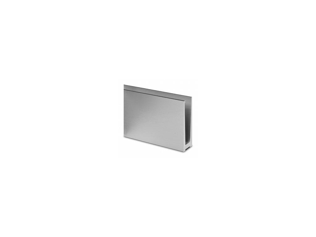 Montážní profil Q-Railing ECO 120/44 mm pro sklo od 12 do 21,52 mm, vrchní kotvení, délka 5000mm
