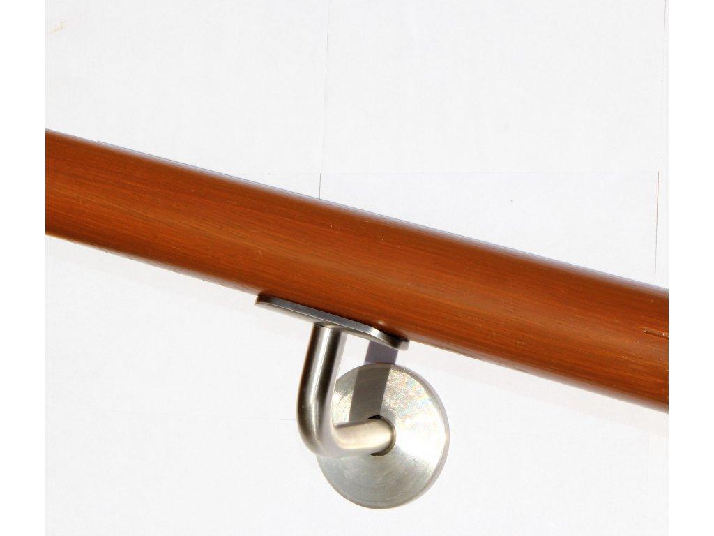 Drevěné madlo na zeď DUB (Ø42mm), odstín: 3032 třešeň