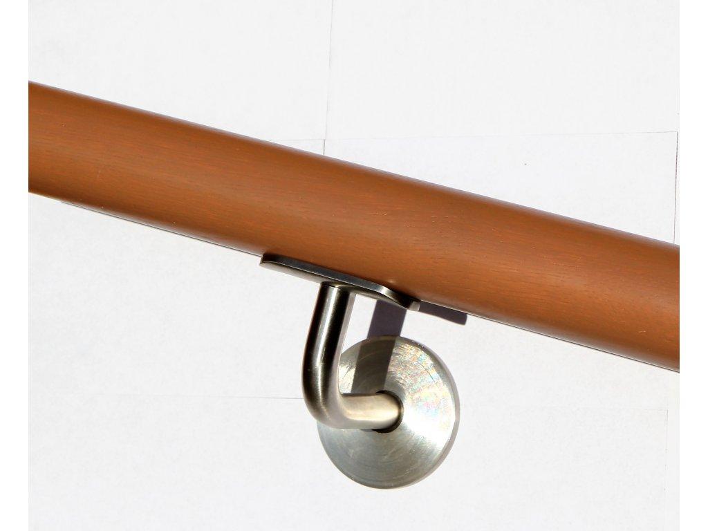 Drevěné madlo na zeď DUB (Ø42mm), odstín: 3023 buk