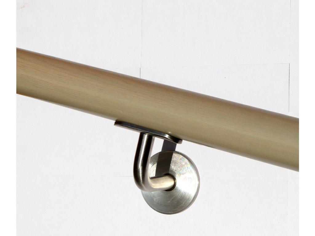 Drevěné madlo na zeď DUB (Ø42mm), odstín: 3017 stříbrnošedá