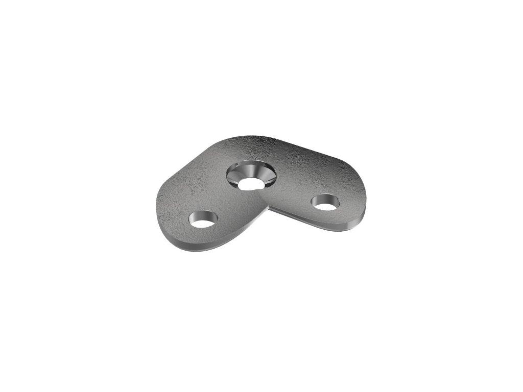 Rohová 90° montážní destička pro madlo s průměrem 42.4 mm