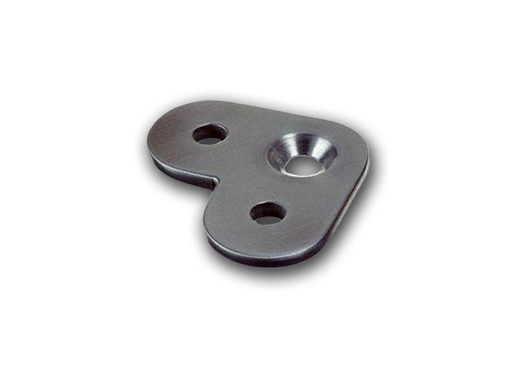 Rohová 90° montážní destička pro madlo s plochým základem