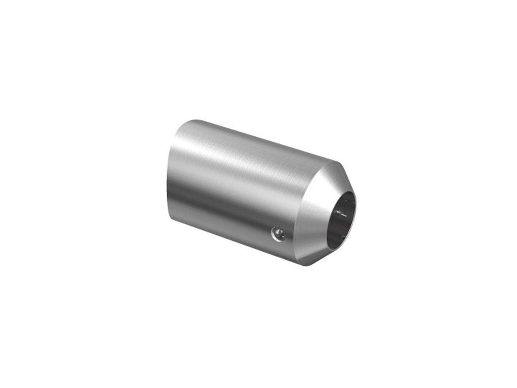 Nerezový držák pro tyč pr. 12 mm, pro sloupek pr. 42,4 mm, AISI 304