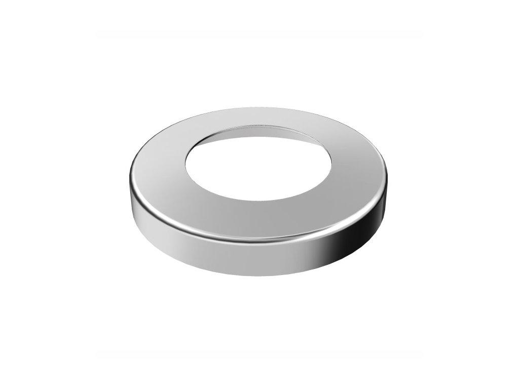 Krycí rozeta Ø76 mm pro tyč Ø42,4 mm, leštěná