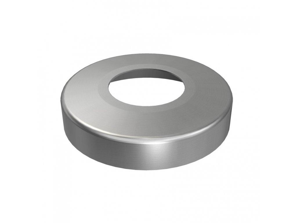 Krycí rozeta Ø95 mm s vnitřním otvorem Ø48,3 mm, broušená