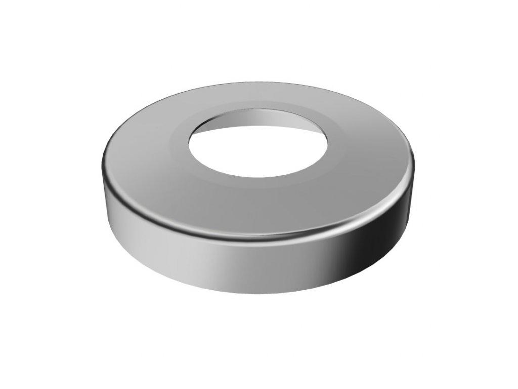 Krycí rozeta Ø95 mm s vnitřním otvorem Ø48,3 mm, leštěná