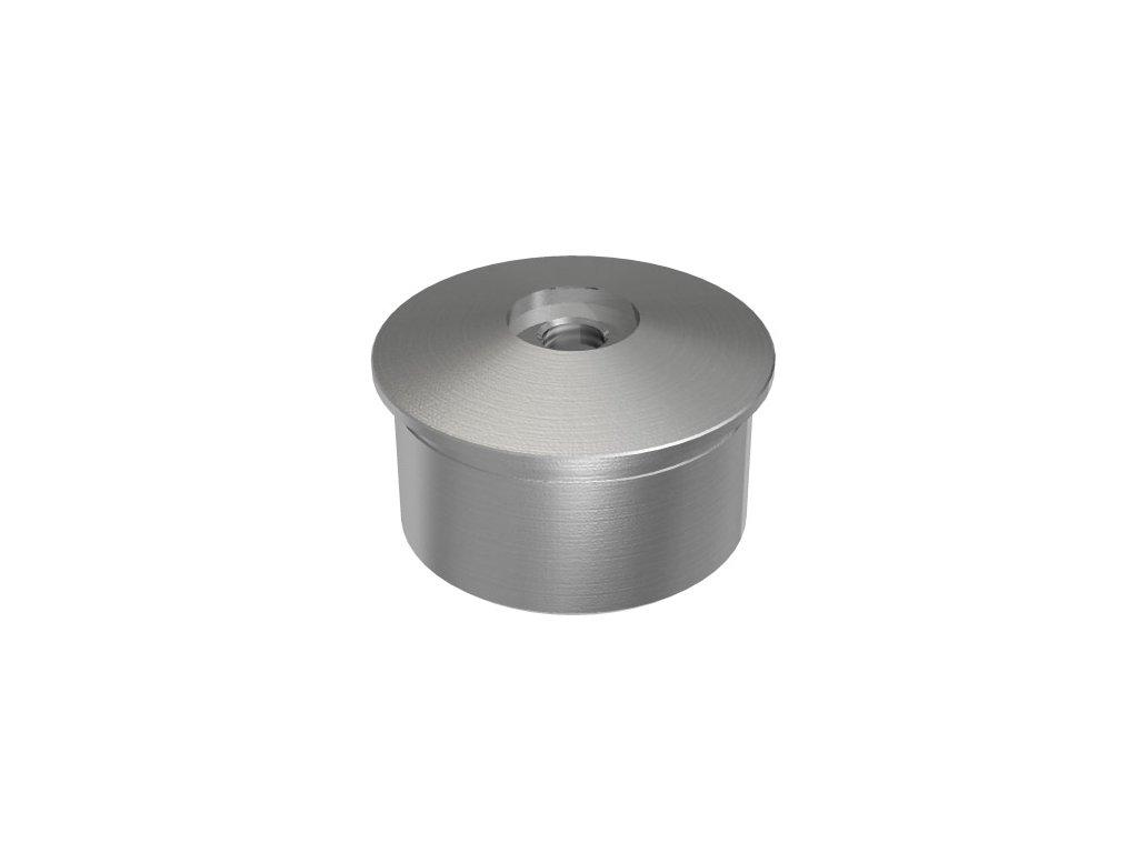 Vypouklá záslepka na nalepení, pro trubku Ø42.4 x 2,0 mm se závitem M8, broušená