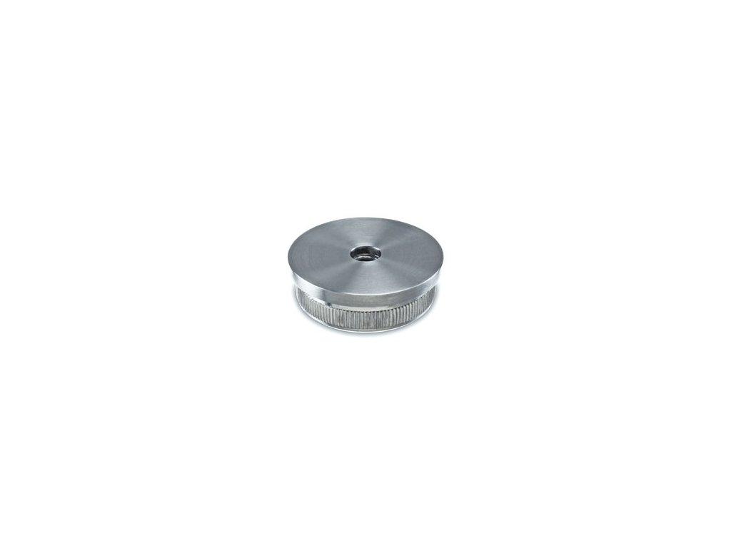 Plochá záslepka pro trubku Ø48.3 x 2,0 mm se závitem M10, broušená