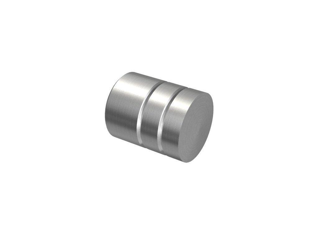 Vnější ozdobná záslepka pro trubku Ø12 mm, broušená