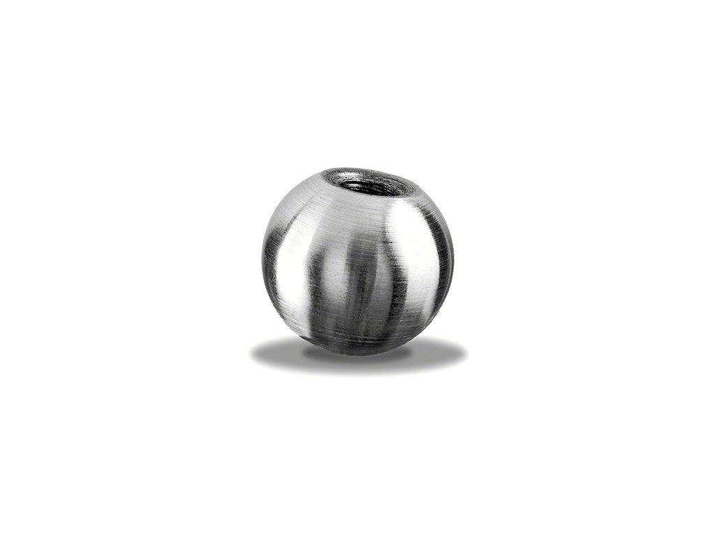 Plná koule Ø20 mm se závitem M6, broušená