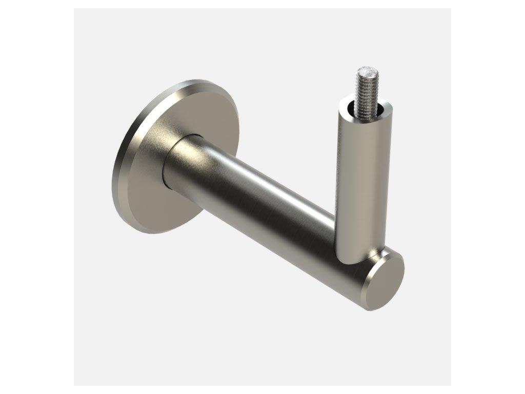 Držák zábradlí zašroubovaný do madla Ø42,4 mm