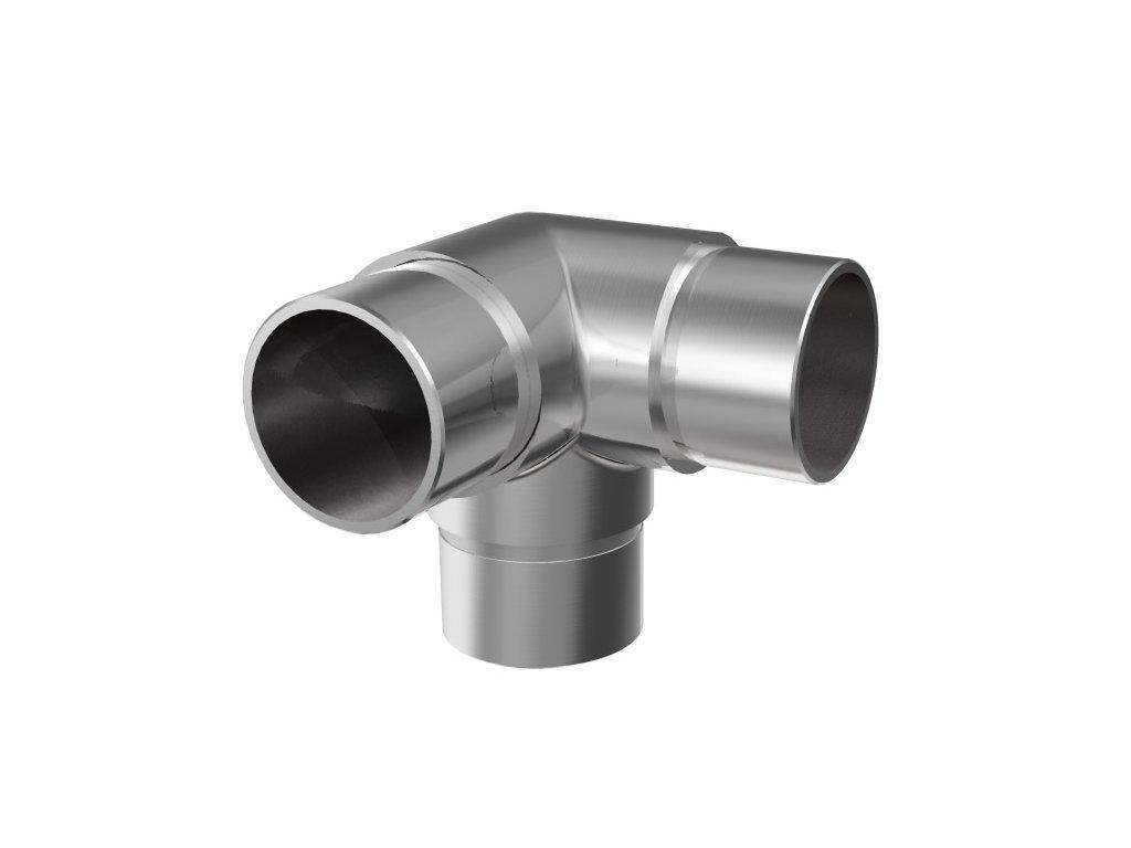 Rohový spoj 90° pro zábradlí Ø33,7 x 2,0 mm