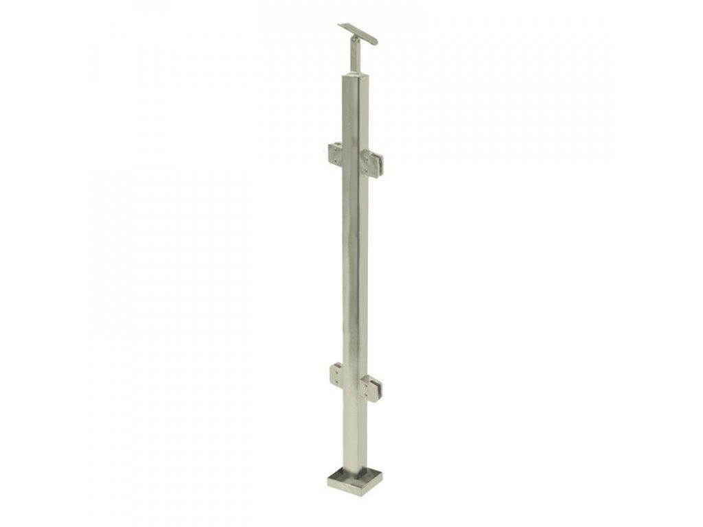 Sloupek z profilu 40 x 40 x 970 mm pro zábradlí Ø42,4 mm