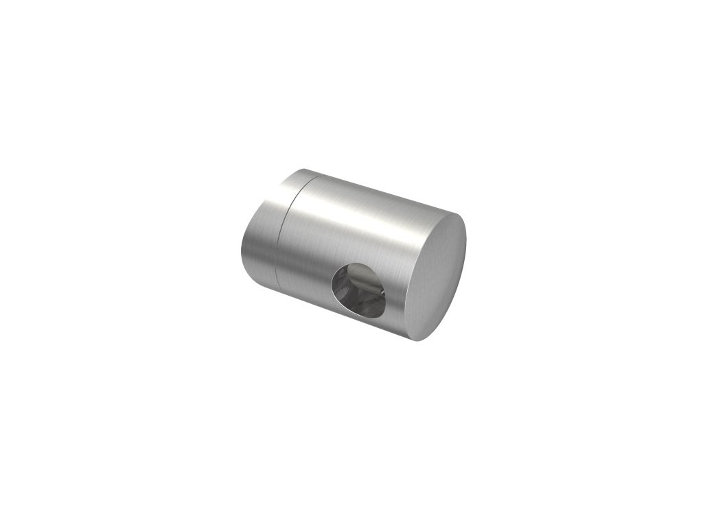 Úchyt s bočním průchodem pro tyč Ø10,0 mm / pro sloupek Ø42,4 mm, nerezová ocel AISI 304, brus
