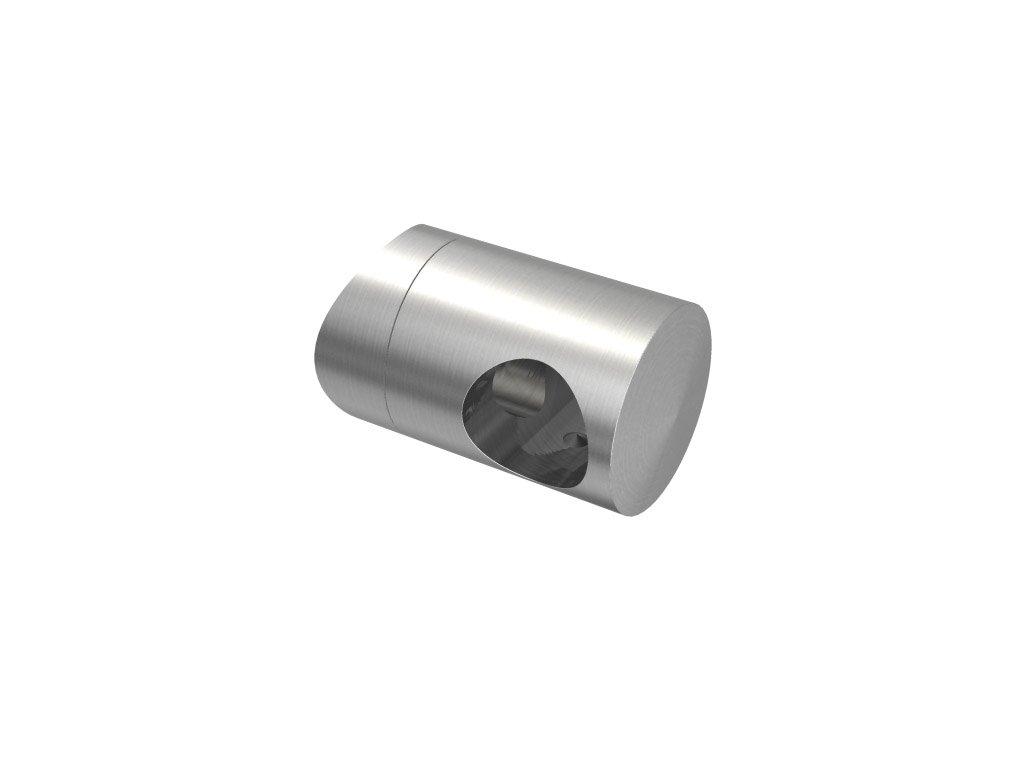 Úchyt s bočním průchodem pro tyč Ø14,0 mm / pro sloupek Ø42,4 mm, nerezová ocel AISI 304, brus