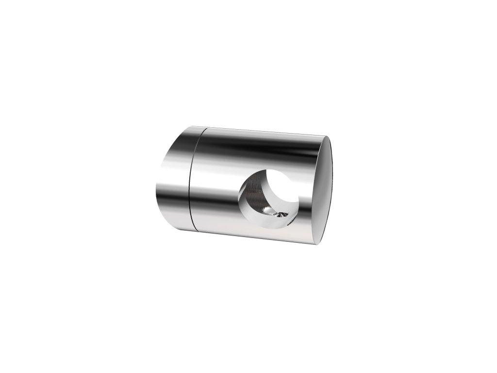 Úchyt s bočním průchodem pro tyč Ø16,0 mm / pro sloupek Ø42,4 mm, nerezová ocel AISI 304, leštěný