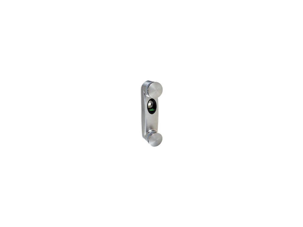 Upevnění skla o tloušťce 10 - 21,52 mm pro boční kotvení, nerezová ocel AISI 304, brus
