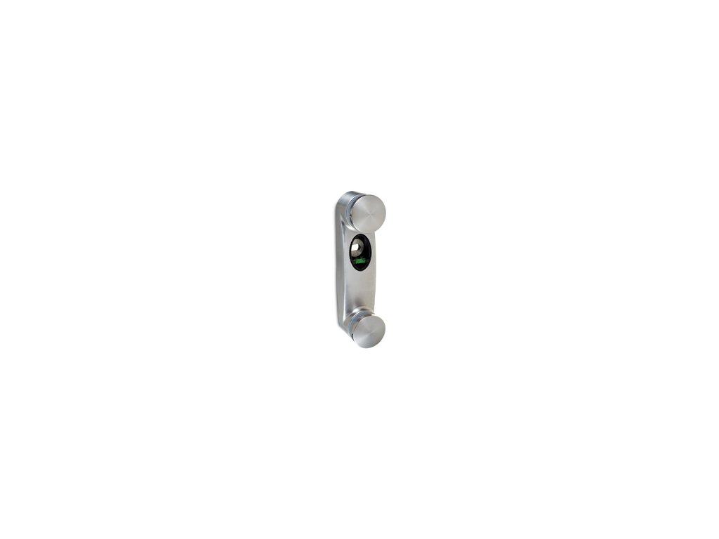 Upevnění skla o tloušťce 8 - 17,52 mm pro boční kotvení, nerezová ocel AISI 304, brus