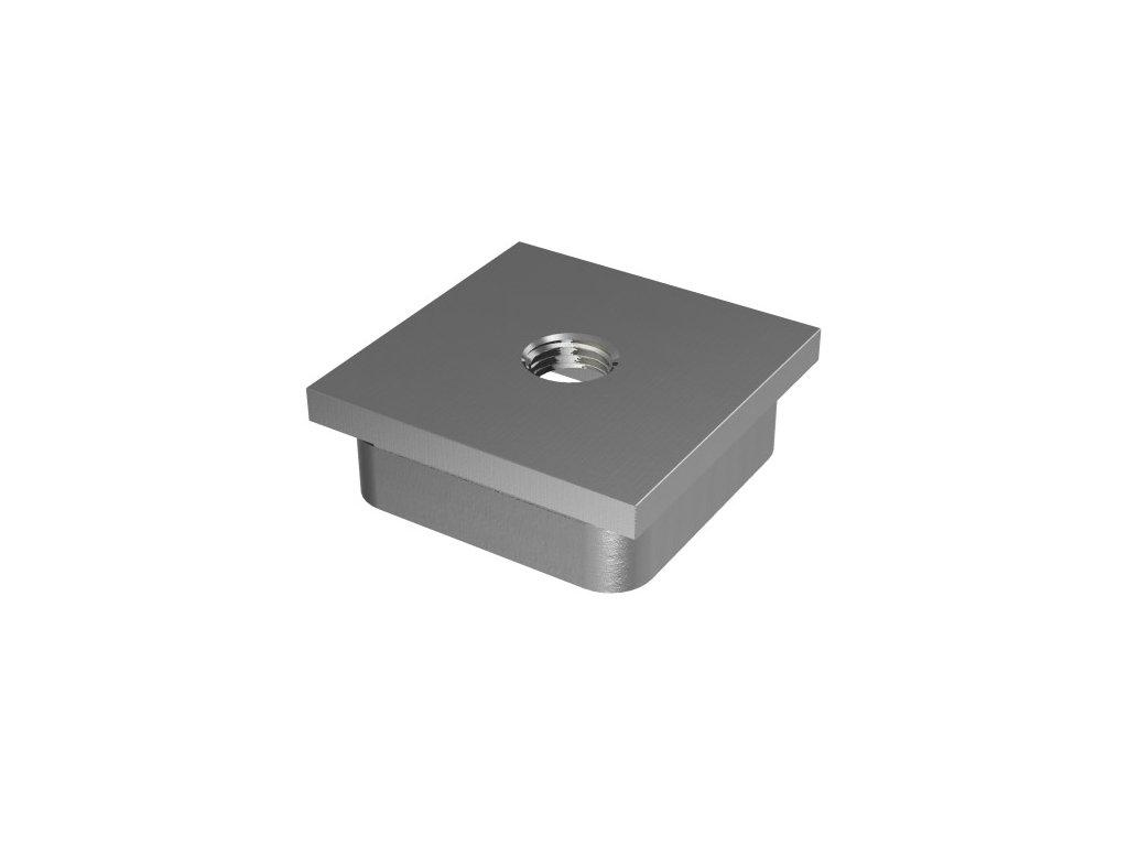 Záslepka pro profil 40 x 40 x 2,0 mm se závitem M8 z nerezové oceli AISI 304, brus