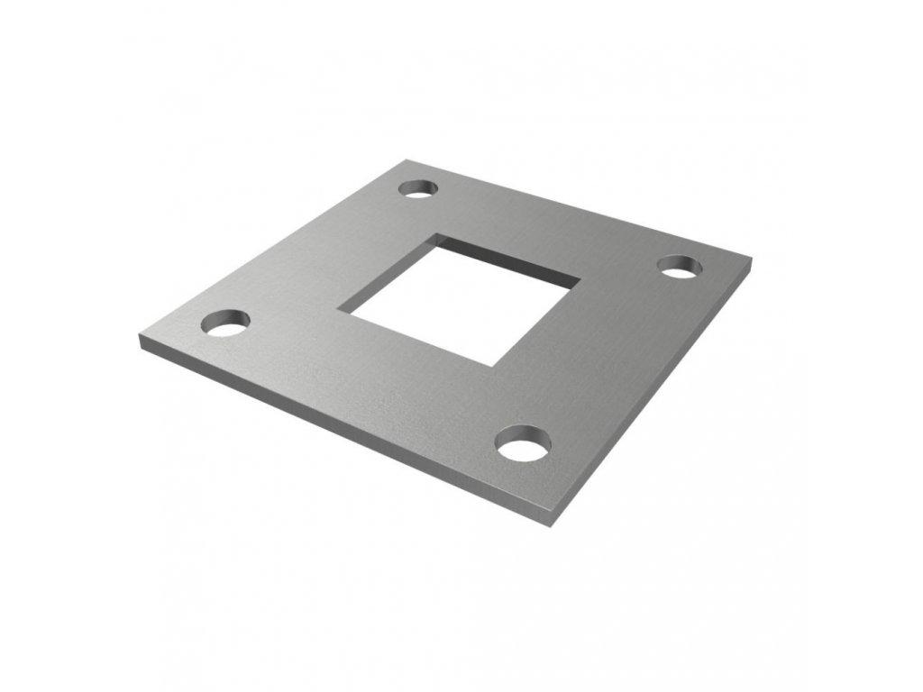 Montážní deska 100 x 100 x 4 mm pro sloupek 40 x 40 mm, surová
