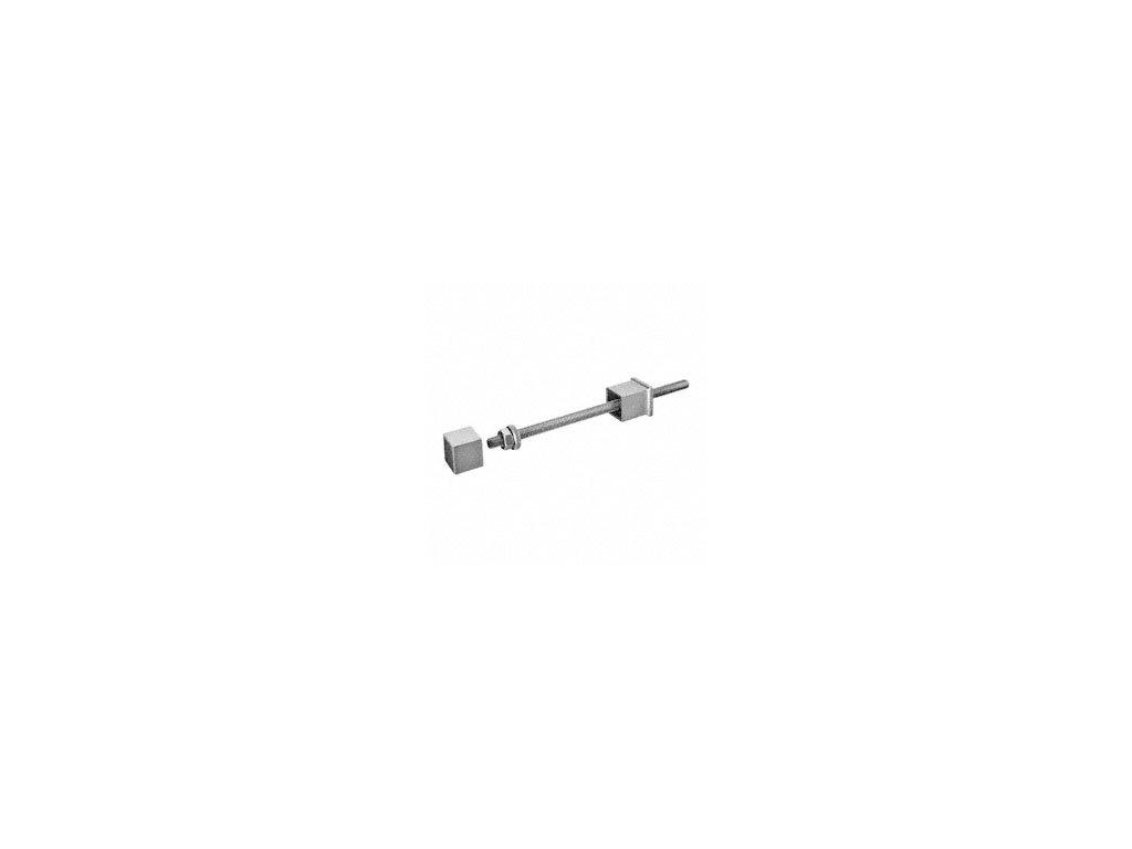 Boční kotvení sloupku, brus, AISI 304