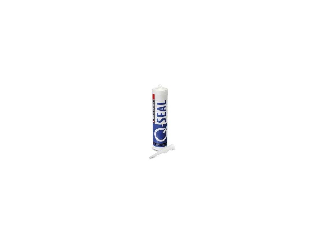 Lepidlo Q-Seal, silikon 310ml, černá barva, včetně trysky