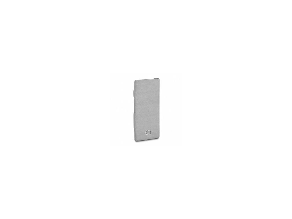 Levá záslepka profilu, verze A: montáž profilu s krytem, hliník