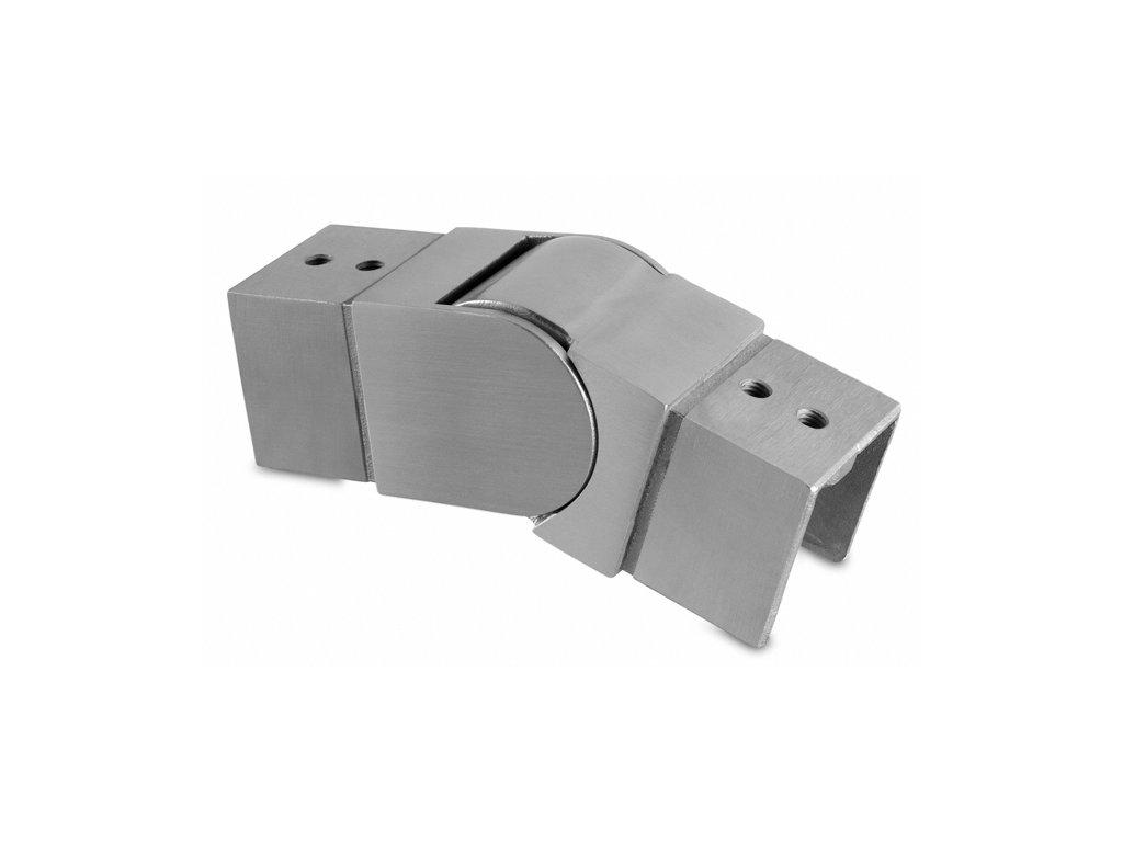 Spoj 40 x 40 mm, nastavitelný dolů, AISI 304