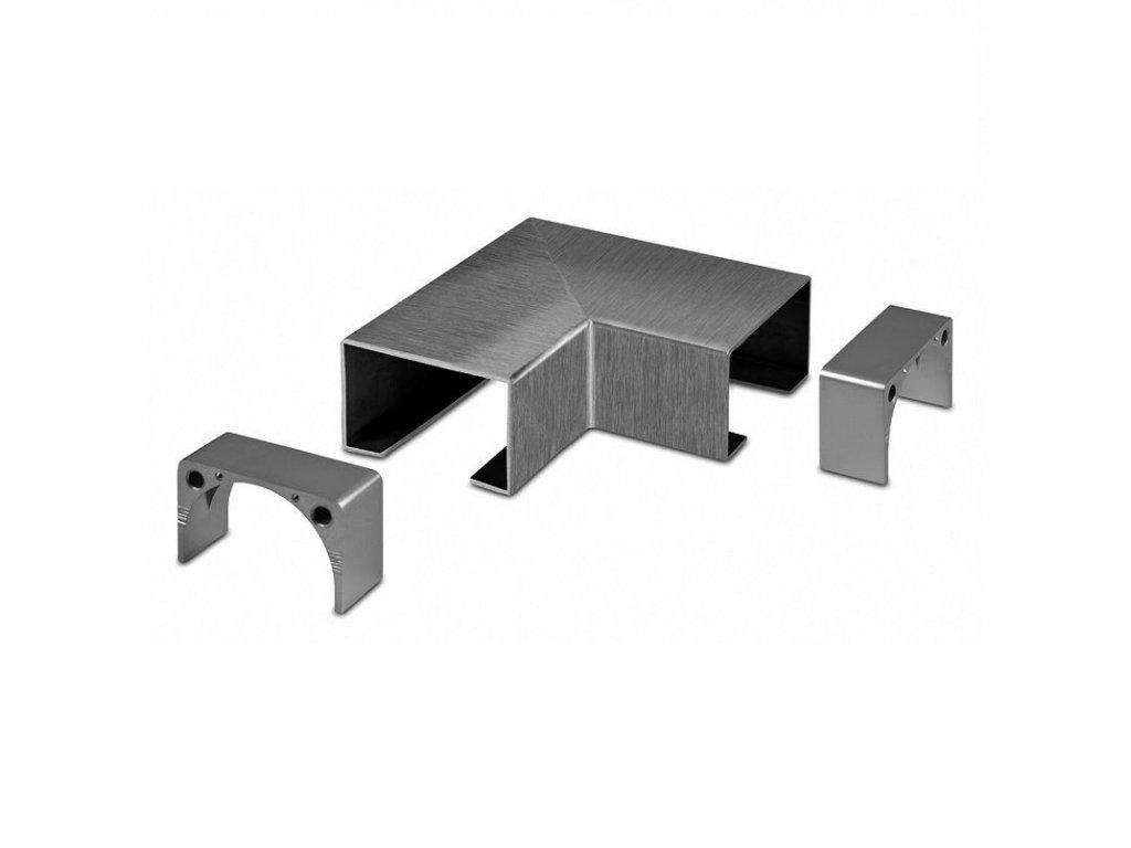 Spoj 90° pro dřevěný profil 40 x 60 mm + 2 adaptéry, AISI 304