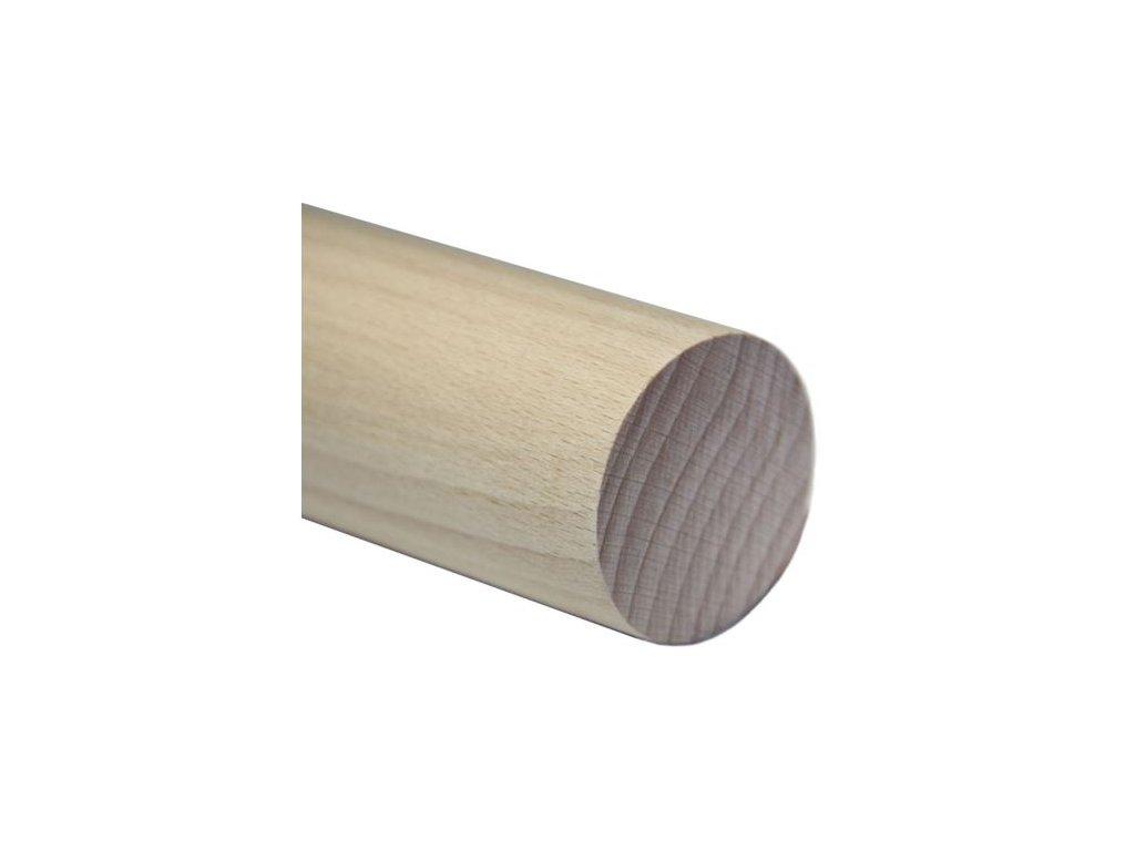 Madlo dřevěné - jasan (surové) Ø42mm, 2500mm