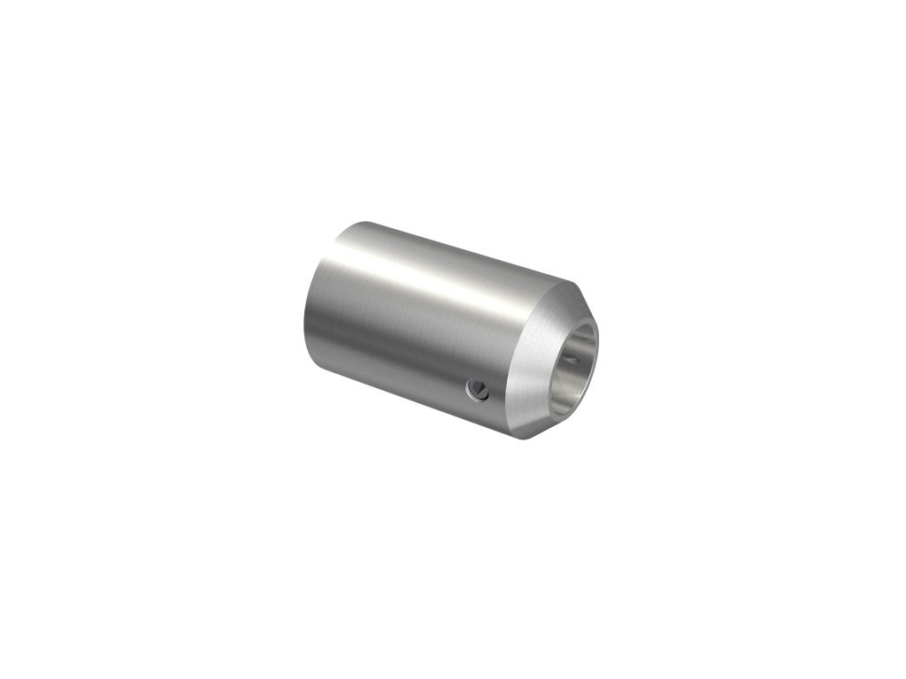 Nerezový držák pro tyč pr. 12 mm, pro profil/rovnou plochu, AISI 304