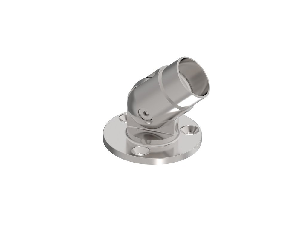Nastavitelná nástěnná příruba pro zábradlí O42,4 mm