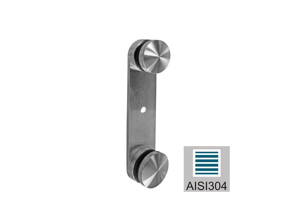 Boční kotvení pro skleněné zábradlí AISI304, K320, 50x200/T8-18