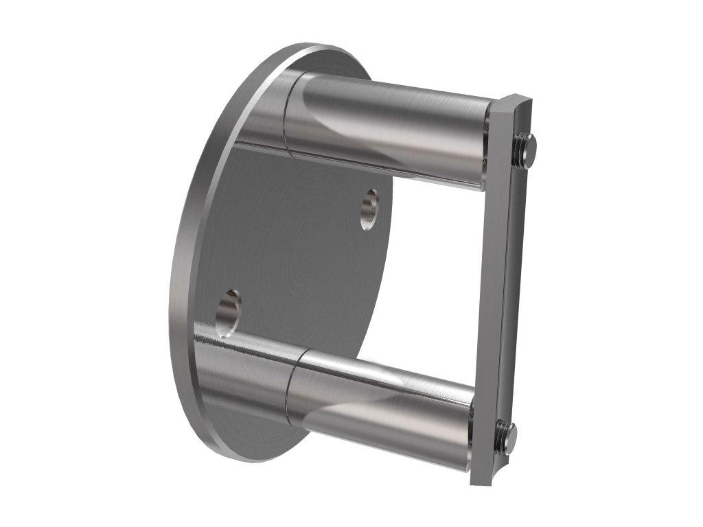Boční kotvení sloupku Ø42,4 mm, brus