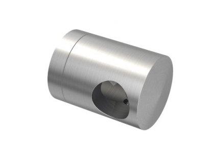 Pravý koncový úchyt pro tyč Ø12,0 mm / pro profil (plochý povrch), nerezová ocel AISI 304, brus
