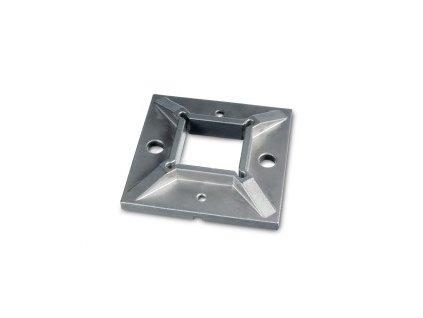 Montážní patka 100 x 100 mm pro profil 40 x 40 x 2 mm, brus, AISI 304